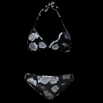 """Urban Classics """"Flower"""" Triangle Bikini (black)"""
