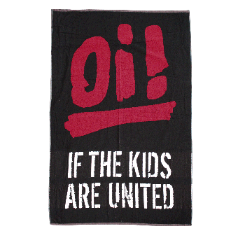 """Badetuch """"Oi! If the kids are united"""" (schwarz)"""