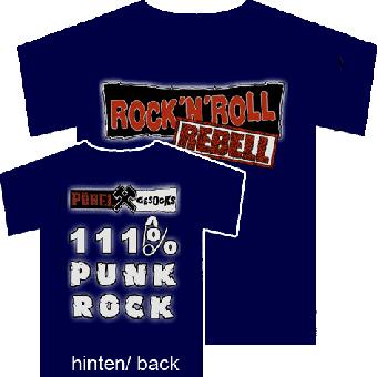 "Pöbel & Gesocks ""Rock`n`Roll Rebell"" T-Shirt (navy)"
