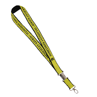 Sometimes Antisocial Keychain (black/yellow)