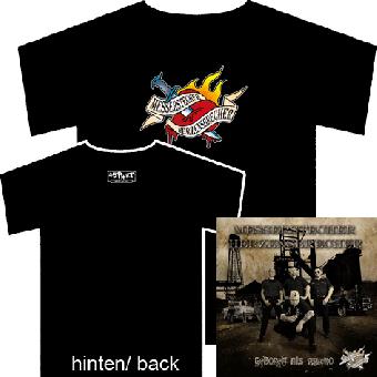 "Messerstecher Herzensbrecher ""Logo"" - TShirt + Geboren als Psycho CD"