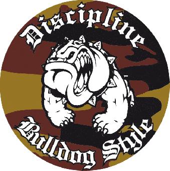 """Discipline """"Bulldog Style"""" - Aufkleber 010"""