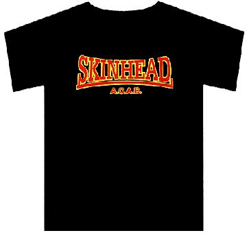 Skinhead A.C.A.B (gelb-rot) - T-Shirt