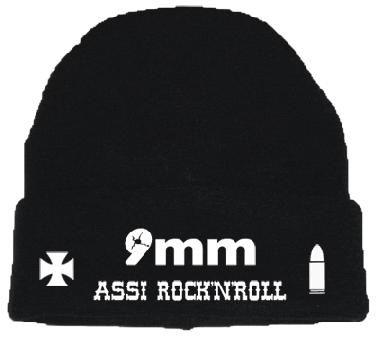 "9mm Assi Rock`n`Roll ""Logo"" - Wollmütze"