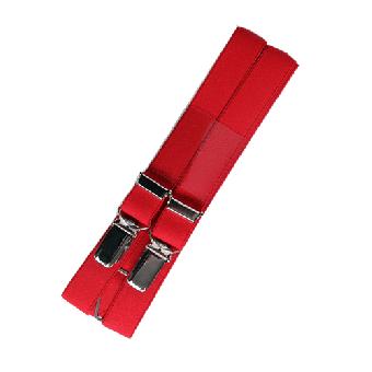 Never Surrender Streetwear - Hosenträger (rot)
