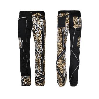 """Bondage Hose """"Leopard"""" (schwarz)"""