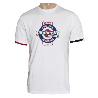 """Lambretta """"Service"""" T-Shirt (white) (reduziert)"""