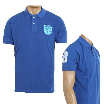 "Lambretta ""Badged"" Polo (electric blue) (reduziert)"