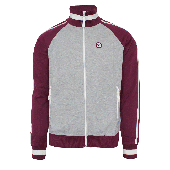 "Trojan ""Twin Stripe"" Sweatjacke (grey/burgund)"