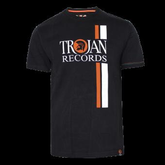 "Trojan ""Twin Stripe"" T-Shirt (schwarz)"