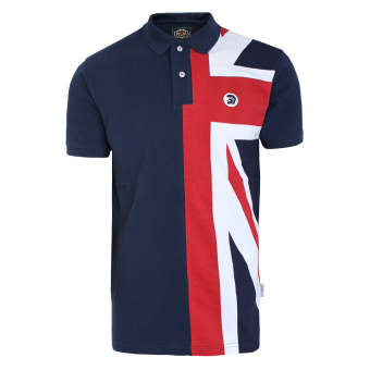 "Trojan ""Union Jack Flag"" Polo (navy)"