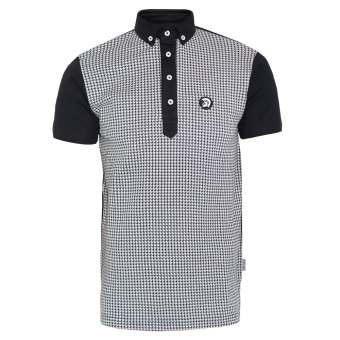 "Trojan ""Dogtooth"" Polo (black)"
