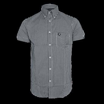 "Trojan ""Logo"" Button Down Shirt (short) (black)"