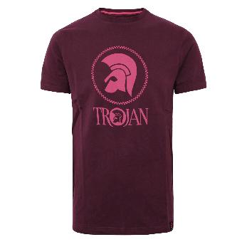 "Trojan ""Chequerboard"" T-Shirt (maroon)"