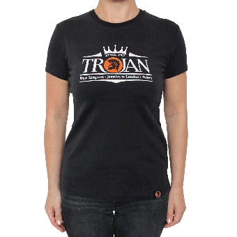 "Trojan ""Logo"" Girly Shirt (black)"