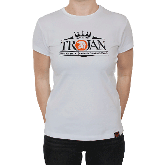"Trojan ""Logo"" Girly Shirt (white)"