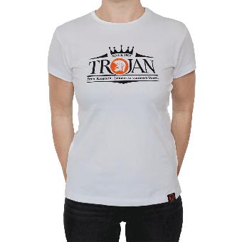 "Trojan ""Logo"" Girly Shirt (weiss)"