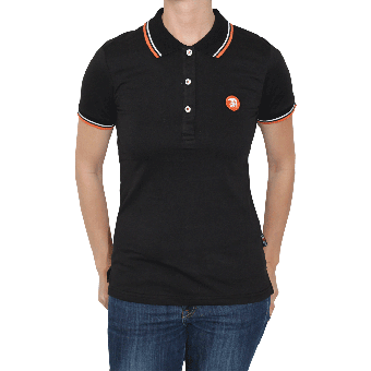 "Trojan ""Logo"" Girl Polo (black)"