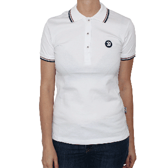 "Trojan ""Logo"" Girl Polo (white)"