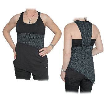 "Zergatik ""Zin"" Girly Top (tetris)"