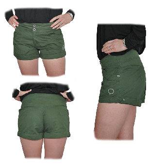 "Zergatik ""Pelte"" Girly Shorts (verde)"
