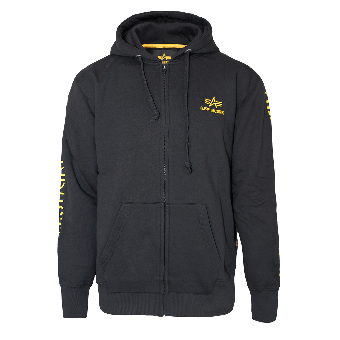 "Alpha Industries ""Track II"" Zip Jacket (black/yellow)"