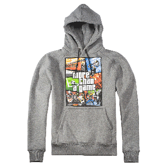 "PGWear ""more than a game"" Hooded (grey)"