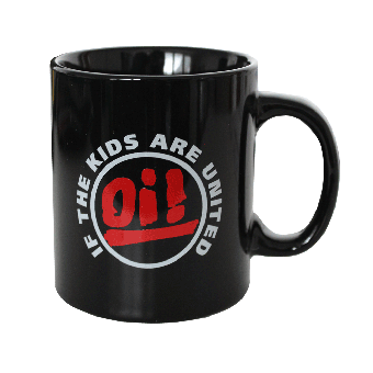 "Tasse ""Oi! If the kids are united"" (schwarz)"