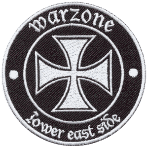 Warzone (Lower East Side) - gestickter Aufnäher/ patch