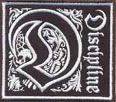 Discipline - Aufnäher (grosses D) (gestickt) - Aufnäher / patch