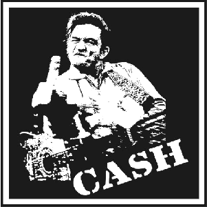 Johnny Cash - Aufnäher/patch (gestickt)