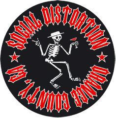 "Social Distortion ""Orange County"" - Aufnäher/patch (gestickt)"