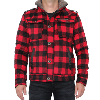 "Ringspun Winterjacket ""Fort"" (red/black)"