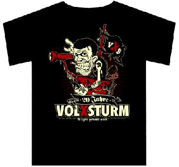 """Volxsturm """"Allzeit gerade aus!"""" T-Shirt"""