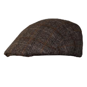 Schiebermütze (Gatsby) (groß Karo) (brown)