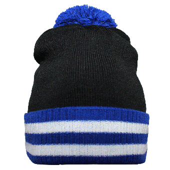 Beechfield Mütze (black/royal)