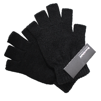 Beechfield Fingerless Gloves (black)