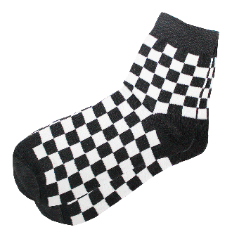"Socks short ""Ska""  (black/white)"