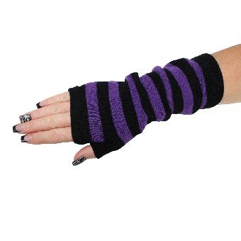 """Handschuhe Fingerlos """"Stripe"""" (lila)"""