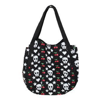 """Tasche """"Cherry Skull"""" (black)"""