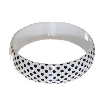 Polka Dot  Armreifen (white)