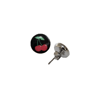 Cherry Ohrstecker (2Stück) (black)