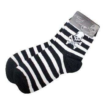 """Socks (short) """"Skull""""  (black/white)"""