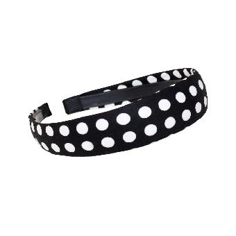 Polka Dot Haarreifen (black)