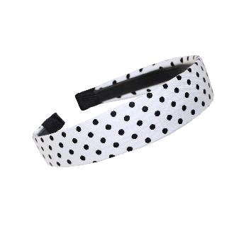 Polka Dot Haarreifen (white)