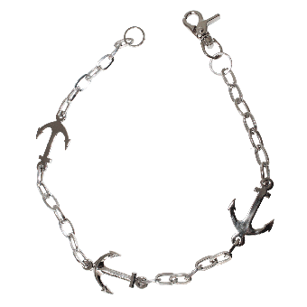 "Wallet Chain ""Anchor"" (silver)"