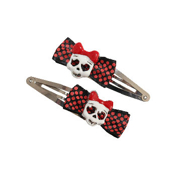 Skull Hairclip (2Stück) (black)