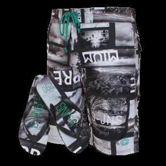 "Smith & Jones Beach Shorts ""Convex"" (grey)"