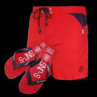 """Smith & Jones Beach Shorts """"Buoyant"""" (red)"""