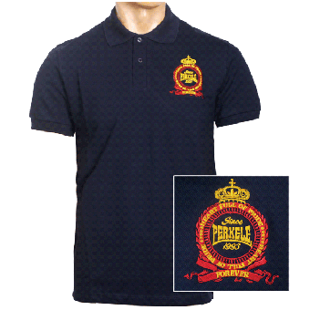 "Perkele ""Crown"" Polo-Shirt (navy)"
